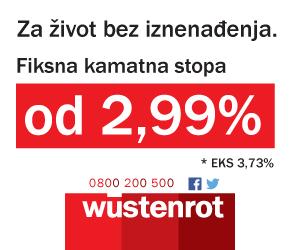 Wustenrot - fiksna kamatna stopa 2,99%